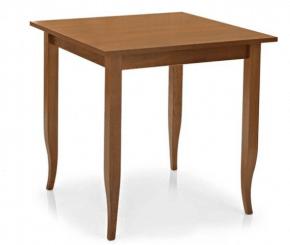 table carrée rustique en bois de noyer laqué