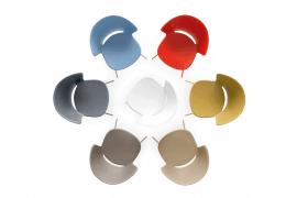chaise design en acier et polypropylène en sept coloris