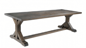 grande table rustique en bois massif gris