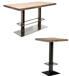 table de bar design carrée ou rectangulaire