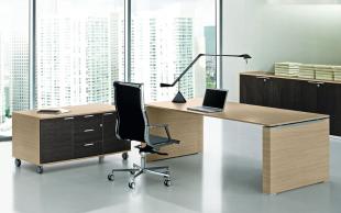 bureau design modulable en bois clair