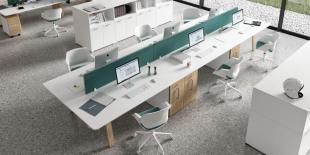 bureaux opératifs modernes blancs