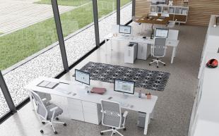bureaux d'open space moderne inspiration scandinave