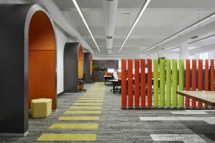 séparateur d'espace design coloré pour entreprise