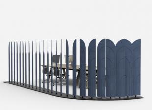 séparateur d'espace design pour entreprise et restauration