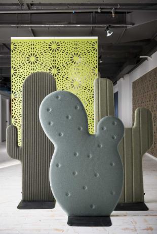 séparateur d'espace design en forme de cactus