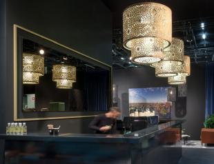 élément acoustique design chandelier lumineux