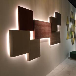 panneau acoustique design carrés lumineux