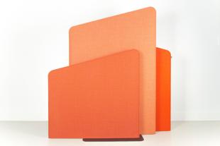séparateur d'espace orange pour entreprise
