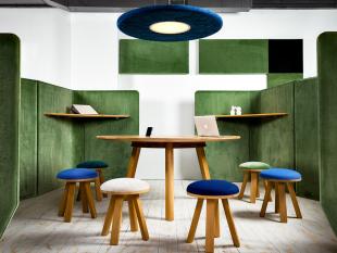 panneau acoustique et séparateur d'espace design vert