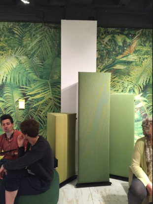 séparateur d'espace design cônique pour entreprise