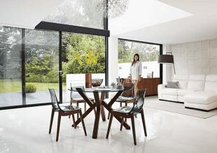 chaises et table design mobilier de style contemporain