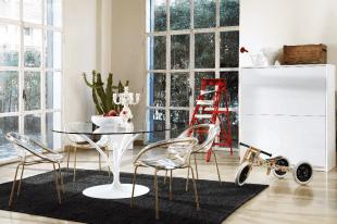 table et chaises design transparent style contemporain