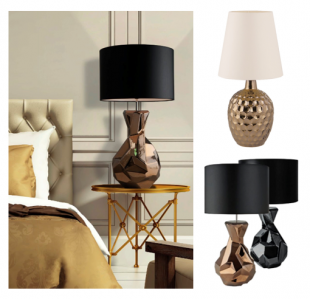 lampe de chevet pied en céramique stylisé