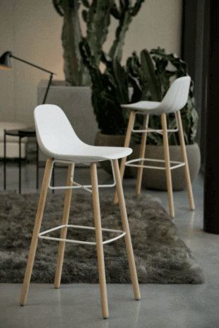 chaise haute blanche inspiration scandinave