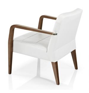 chauffeuse classique en bois et tissu blanc