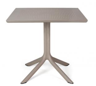 table d'extérieur carrée classique beige