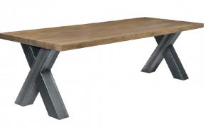 table design rectangulaire en bois massif bicolore