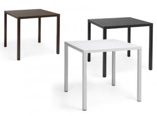 tables d'extérieur noir ou blanc pour terrasse