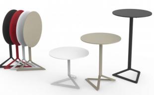 tables d'extérieur design pliantes rouge noir ou blanc