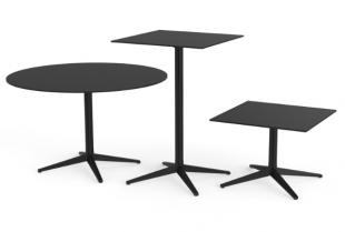 table carrée ou ronde pour extérieur noire
