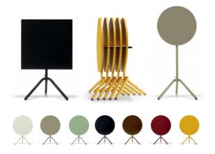 tables d'extérieur pliable jaune rouge gris ou vert