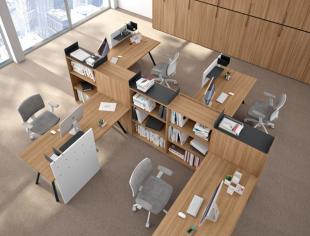 ensemble de bureaux fonctionnels et modulables