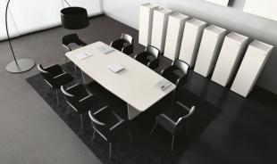 aménagement moderne d'espace réunion sièges en cuir