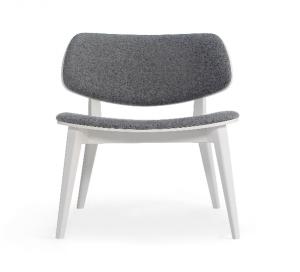 chauffeuse design pour espace lounge bois blanc et tissu