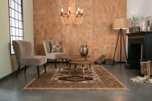 fauteuils table et luminaire ambiance vintage chic