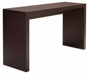table haute design en bois foncé