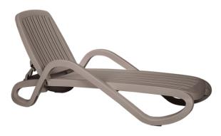 bain de soleil chaise longue en PVC beige