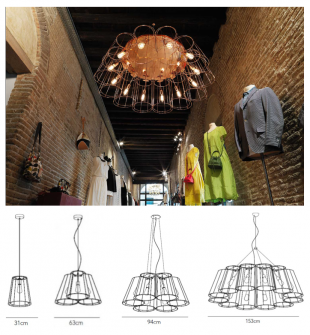 luminaire suspension design assortiment d'ampoules