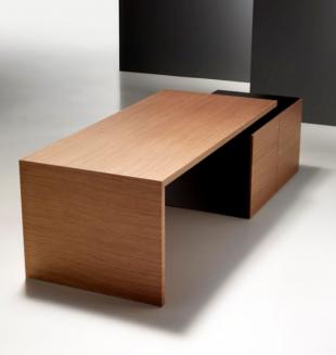 bureau modulable classique en bois brut