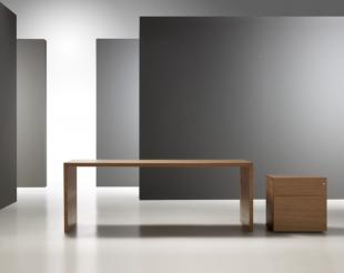 bureau classique modulable en bois clair