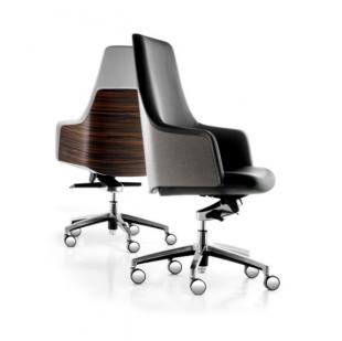 chaise de bureau design bois et tissu rembourré