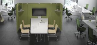 bureau fonctionnel personnalisé pour open space