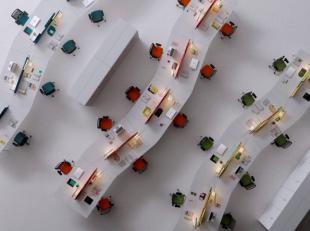 bureaux design aménagés pour open space