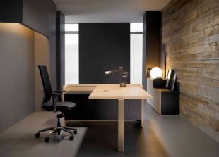 bureau d'angle design en bois clair