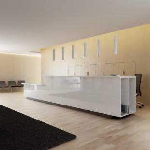 aménagement espace d'accueil moderne pour entreprise