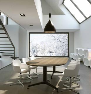 espace réunion inspiration scandinave bois clair