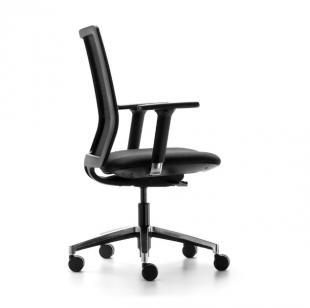 chaise de bureau classique en cuir noir