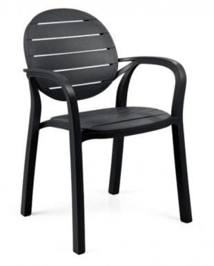 chaise d'extérieur noire classique