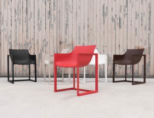 chaises d'extérieur design style cosy coloré