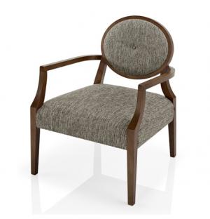 chauffeuse classique vintage en bois et tissu gris
