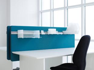 séparateur d'espace bleu pour bureau d'entreprise
