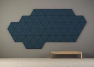 panneau acoustique design mural bleu pour entreprise