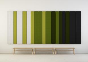 panneau acoustique design mural vert pour entreprise