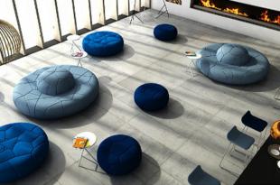aménagement espace détente avec banquettes design