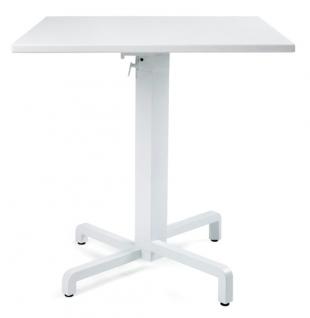 table carrée hauteur réglable en acier laqué